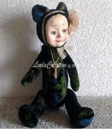 Poupée de collection Ourson Lea esprit Teddy Doll