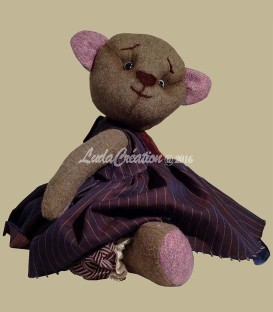 Ourse de collection Teddy bear d'antan Michelle fait main