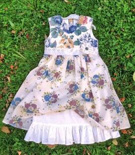Robe d'été romantique pour une fillette de 5 ans