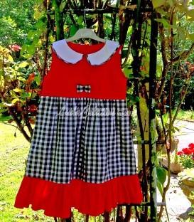 Robe d'été avec col Claudine pour une fillette de 4 ans