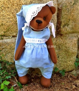 Ourson de collection Teddy bear Anatole. Fait main