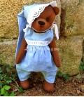 Ourson de collection Teddy bear Anatole. Fait main
