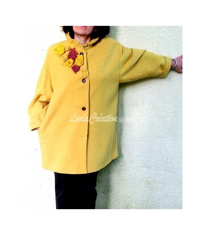 Los Angeles Bons prix aliexpress Manteau Femme , élégant couleur moutarde modèle unique