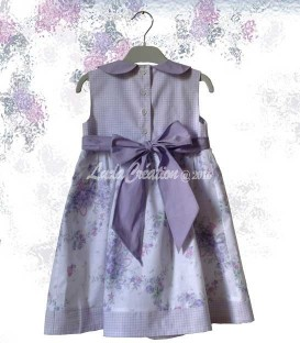 La robe de fêtes romantique en coton pour petite fille 3 ans