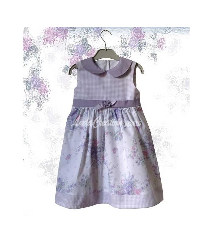 0b63cae202a La robe de fêtes romantique en coton pour petite fille 3 ans