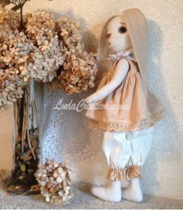 Lapinette décorative Alice shabby chic