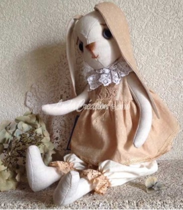 Lapinette décorative Alice shabby chic