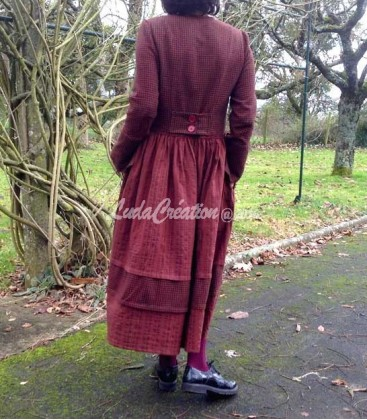Robe Longue Boheme Charline manche longue couleur roux
