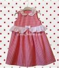 La robe d'été romantique en coton pour petite fille 3 ans