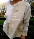Tunique Shabby Chocolat au Lait Oversize en coton, lin , jersey de coton