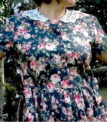 Robe longue d'été Amélie en coton fleuri